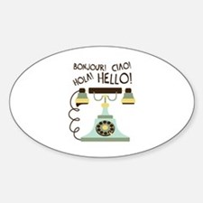 Bonjour! Ciao! Hola! Hello! Decal