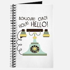 Bonjour! Ciao! Hola! Hello! Journal