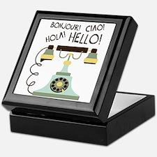 Bonjour! Ciao! Hola! Hello! Keepsake Box