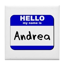 hello my name is andrea  Tile Coaster