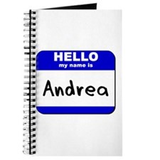 hello my name is andrea Journal