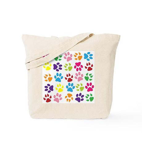 paw prints tote bag by helena1023