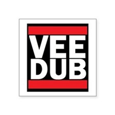"Vee Dub Square Sticker 3"" X 3"""