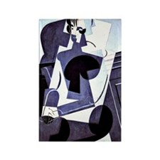 Juan Gris - Portrait of Madame Jo Rectangle Magnet