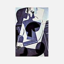 Juan Gris - Portrait of Madame Jo Rectangle Magnet