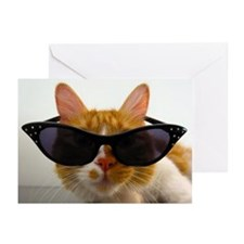 Cool Cat in Sunglasses Greeting Cards (Pk of 10)