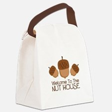 Welcome To The Nut House Canvas Lunch Bag