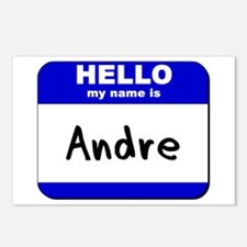hello my name is andre  Postcards (Package of 8)