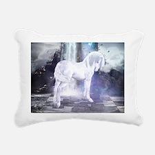 Silver Unicorn Rectangular Canvas Pillow
