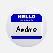 hello my name is andre  Ornament (Round)
