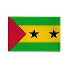 Sao Tome Principe Flag Rectangle Magnet