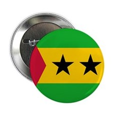 "Sao Tome Principe Flag 2.25"" Button"