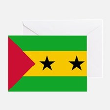 Sao Tome Principe Flag Greeting Card