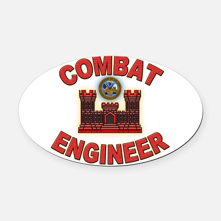 Cute Army engineer Oval Car Magnet