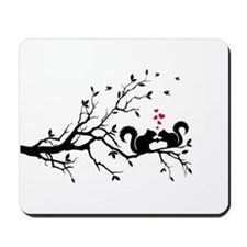 squirrel couple in love on tree branch Mousepad