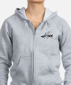 squirrel couple in love on tree branch Zip Hoodie