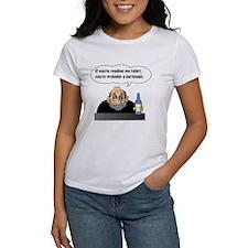 Bartender Reading Tshirt T-Shirt