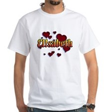 first name Elisabeth ! for i graffiti style T-Shir