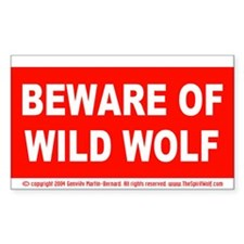Beware of Wolf Decal