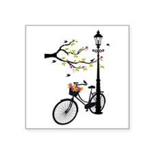 Old vintage bicycle with tree Sticker