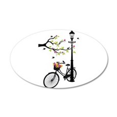Old vintage bicycle with tree Wall Decal