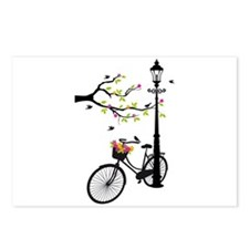 Old vintage bicycle with tree Postcards (Package o