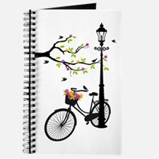 Old vintage bicycle with tree Journal