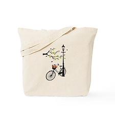 Old vintage bicycle with tree Tote Bag