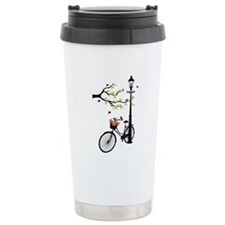 Old vintage bicycle with tree Travel Mug