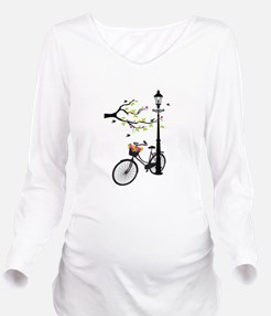 Old vintage bicycle with tree Long Sleeve Maternit