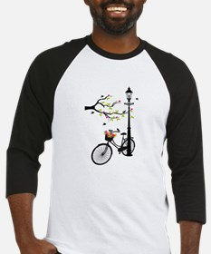 Old vintage bicycle with tree Baseball Jersey