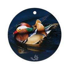 Mandarin Midnight Blue Ornament (Round) Ornament (