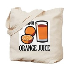 Powered By Orange Juice Tote Bag