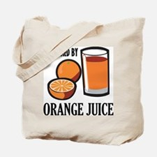 Powered By Orange Juice Tote Bag