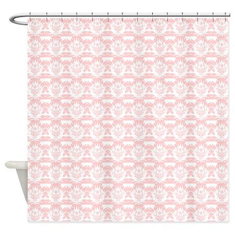 Peach Damask Shower Curtain By ShowerCurtainsWorld