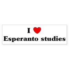 I Love Esperanto studies Bumper Bumper Sticker