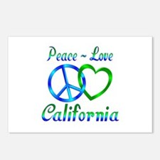 Peace Love California Postcards (Package of 8)