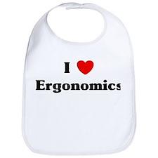 I Love Ergonomics Bib