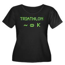 Triathlon 8-Bit Plus Size T-Shirt