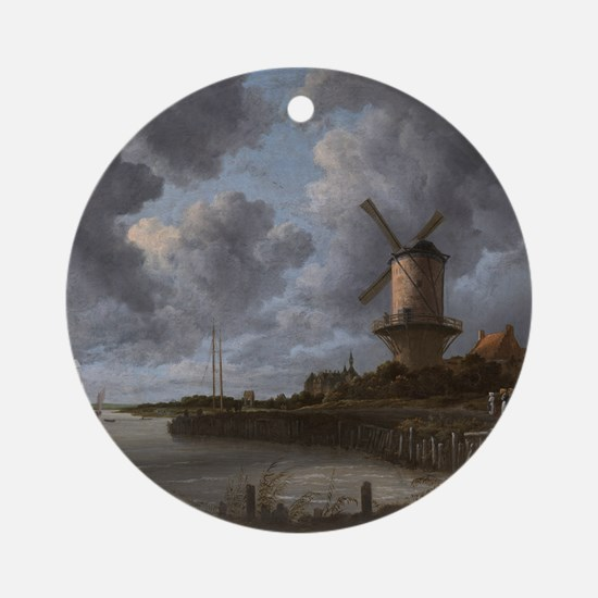 The Windmill at Wijk Ornament (Round)