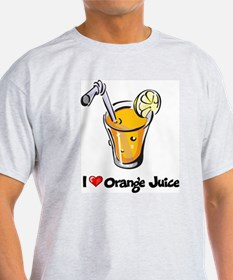 I Love Orange Juice T-Shirt