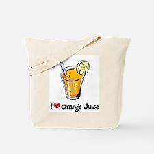 I Love Orange Juice Tote Bag