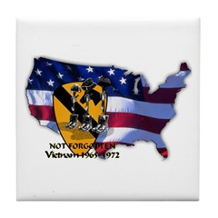 1st Cavalry Division Tile Coaster