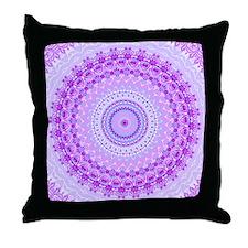 Pink and Pastels Mandala Throw Pillow