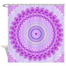 Pink and Pastels Mandala Shower Curtain