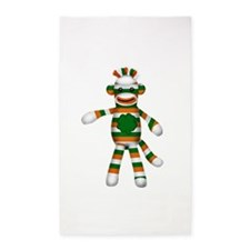 Irish Sock Monkey 3'x5' Area Rug