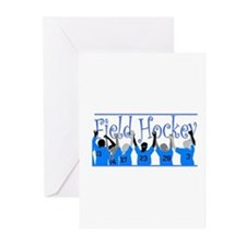 Field Hockey Greeting Cards (Pk of 10) - Blue Gree