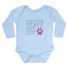 Love You More Catnip Long Sleeve Infant Bodysuit