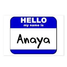 hello my name is anaya  Postcards (Package of 8)