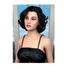 Vintage Woman 5'x7'Area Rug